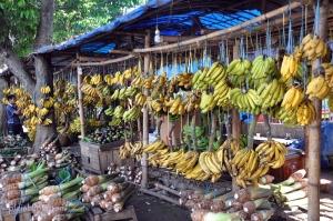 bananas stalls