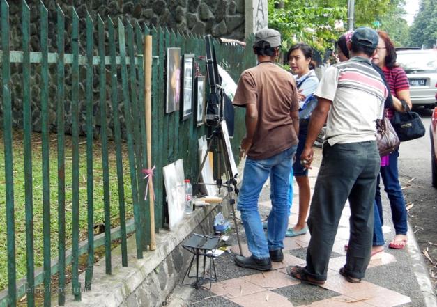 bogor street painter dealing